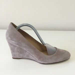 J.Crew Taupe Martina Suede Wedges